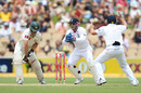 Simon Katich is caught behind by Matt Prior