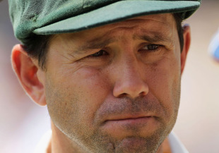 Ricky Ponting ponders what went wrong after England completed an innings win, Australia v England, 2nd Test, Adelaide, 5th day, December 7, 2010