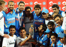 India celebrates their 5-0 victory in the ODI series against New Zealand, 5th ODI, Chennai, December 10, 2010