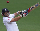 Matt Prior plays a pull shot during his century, Victoria v England XI, Melbourne, 3rd day, December 12, 2010