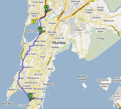 The Tendulkar trail takes you along the western rim of the island city - from MIG cricket club in Bandra to Shivaji Park on to the Wankhede, with the gymkhanas of Marine Drive en route