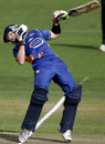 Aaron Redmond tries to evade a bouncer, Canterbury v Otago, Christchurch, HRV Cup 2010-11, December 15, 2010