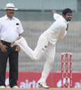 Offspinner Suresh Kumar took two wickets on the first day, Tamil Nadu v Gujarat, Ranji Trophy Super League, 1st day, Chennai, December 15, 2010