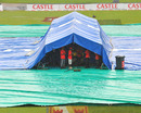 A tent protects the pitch from the rain, South Africa v India, 1st Test, Centurion, 1st day, December 16, 2010