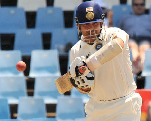 Sachin Tendulkar scored his 50th Test century as India frustrated South Africa in Centurion
