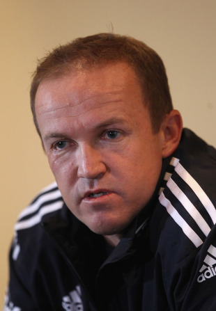 Andy Flower discusses England's heavy defeat, Perth, December 20, 2010