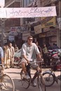 Fanie de Villiers rides a bicycle during the South African team's day out in Pakistan