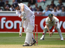 Jonathan Trott helped to extend England's lead with a typically stubborn innings
