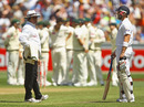 Matt Prior was given out caught behind off Mitchell Johnson before it was found to be a no ball