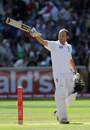 Jonathan Trott acknowledges applause for his hundred