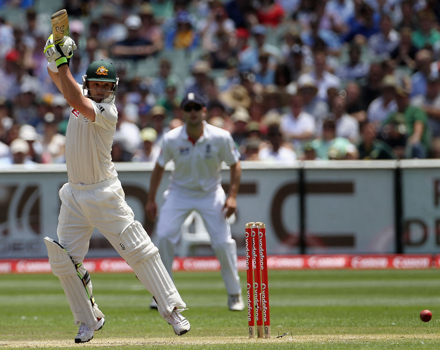 Phillip Hughes launched Australia's innings with typical gusto