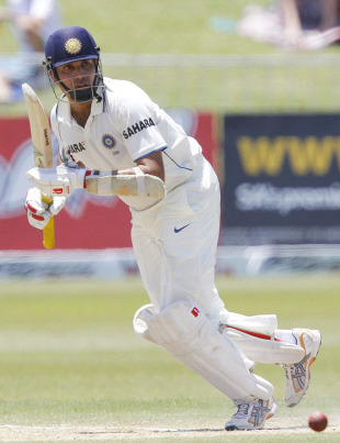 VVS Laxman plays the ball to the on side, South Africa v India, 2nd Test, Durban, 3rd day, December 28, 2010