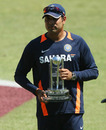 VVS Laxman poses with the Man-of-the-Match trophy, South Africa v India, 2nd Test, Durban, 4th day, December 29, 2010