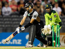 The reverse-sweep didn't work for Peter McGlashan, New Zealand v Pakistan, 3rd Twenty20, Christchurch, December 30, 2010