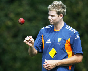 Steven Smith gets ready to work on his bowling in the nets, Sydney, January 2, 2011