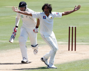 Sohail Tanvir took four wickets to polish off the tail, New Zealand Cricket XI v Pakistanis, tour match, 2nd day, Whangarei, January 3, 2011