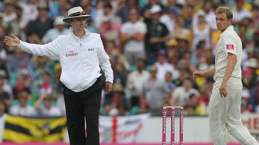 Michael Beer thought he had his first Test wicket until Billy Bowden called no ball