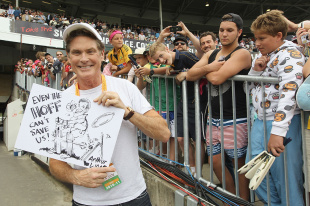 Don't hassle the Hoff: David Hasselhoff at the SCG, Australia v England, 5th Test, Sydney, 2nd day, January 4, 2011