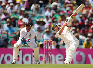 Michael Clarke was positive from the moment he came to the crease, Australia v England, 5th Test, Sydney, 4th day, January 6, 2011