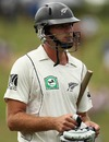 Tim McIntosh walks back after being dismissed, New Zealand v Pakistan, 1st Test, Hamilton, 1st day, January 7, 2011