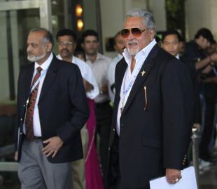 The Royal Challengers Bangalore franchise owner Vijay Mallya arrives for the IPL auction, Bangalore, January 8, 2011