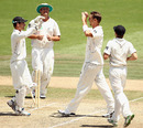Brent Arnel picked up four wickets, 1st Test, Hamilton, 3rd day, January 9, 2011
