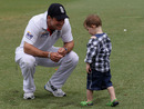 Andrew Strauss with his son after the Ashes win, Australia v England, 5th Test, Sydney, 5th day, January 7, 2010