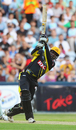 Chris Gayle smashes a six during his record-breaking innings, New South Wales v Western Australia, Big Bash, Sydney, January 9, 2011