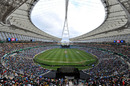 The Moses Mabhida Stadium hosted its first cricket match, South Africa v India, only Twenty20, Durban
