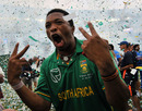 Makhaya Ntini after his last international match, South Africa v India, only Twenty20, Durban