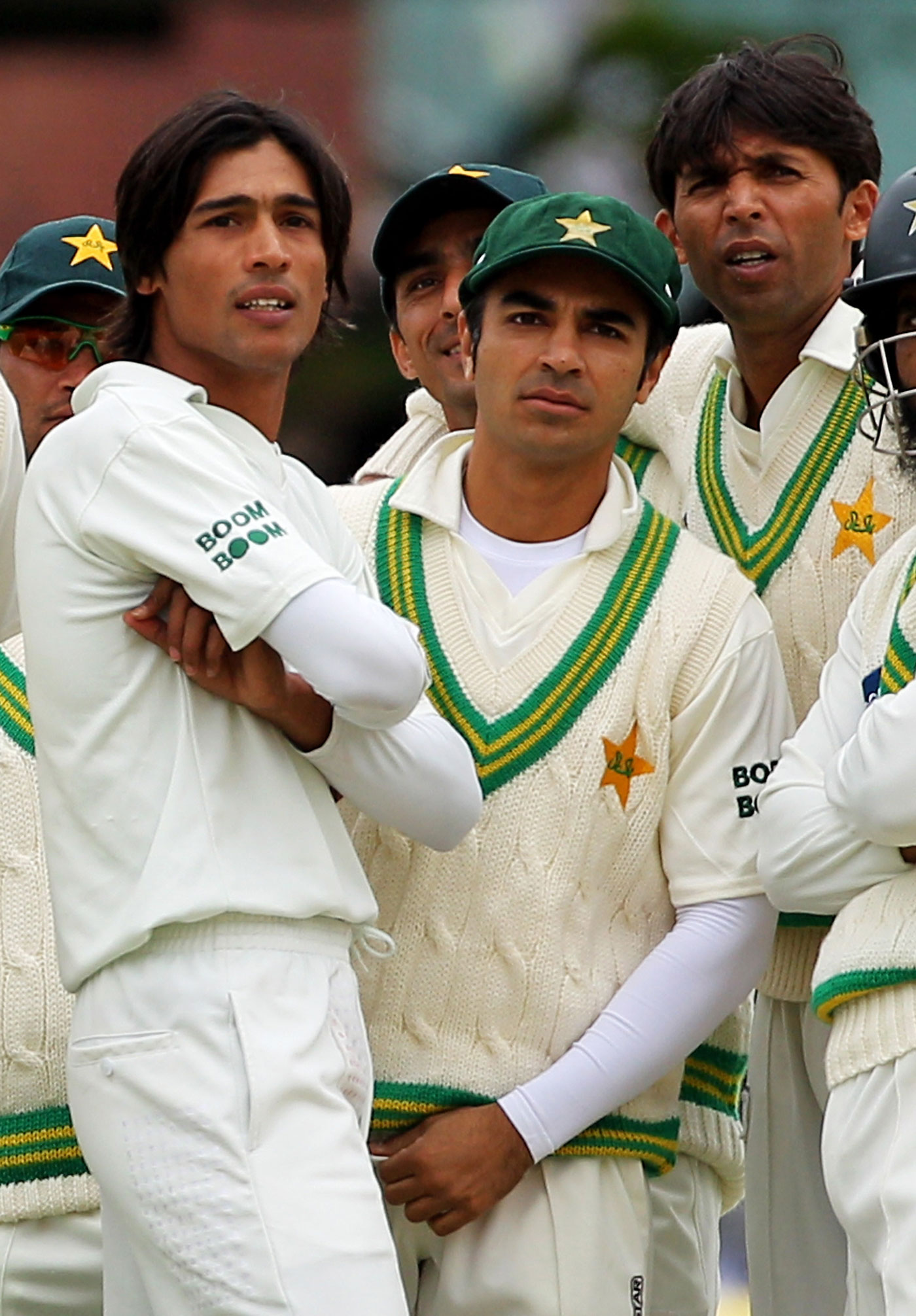 Mohammad Amir, Salman Butt and Mohammad Asif look on, Lord's, August 27, 2010