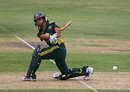 Lisa Sthalekar sweeps during her 38, Australia v England, 1st women's Twenty20, Adelaide, January 12, 2011