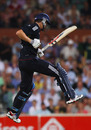 Chris Woakes celebrates hitting the winning run as England beat Australia by one wicket, Australia v England, 1st Twenty20, Adelaide, January 12, 2011