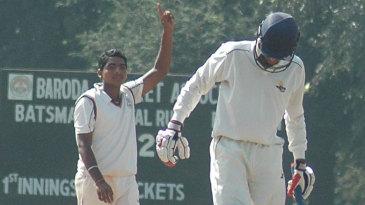 Bhargav Bhatt was the best of Baroda's bowlers
