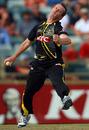 Mick Lewis took the big wicket of Kieron Pollard, Western Australia v South Australia, Twenty20 Big Bash, Perth, January 13, 2011