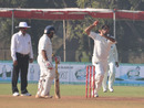 Vivek Yadav picked up four wickets with his legspin, Baroda v Rajasthan, Ranji Trophy Final, Vadodara, January 13, 2011