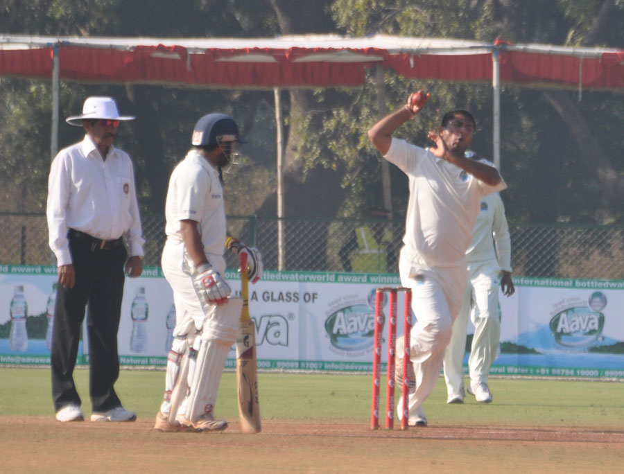 Vivek Yadav picked up four wickets with his legspin