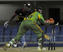 Miles Bascombe was run out for 36, Combined Colleges and Campus v Windward Islands, Antigua, Caribbean T20, Group A, January 10, 2011
