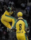 Andre Russell picked up three crucial wickets, Jamaica v Guyana, Antigua, Caribbean T20, Group A, January 10, 2011
