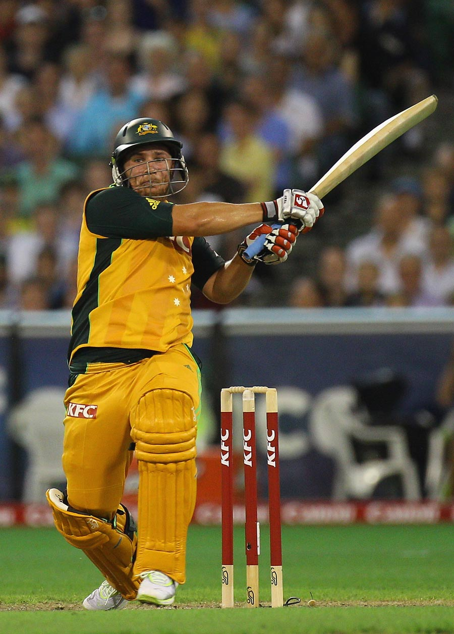 Aaron Finch's maiden international fifty gave Australia a much-needed boost