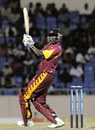 Justin Athanaze's quickfire 34 carried Leeward Islands to 112, Barbados v Leeward Islands, Antigua, Caribbean T20, Group B, January 11, 2011