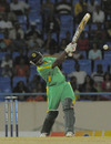Derwin Christian blasted an unbeaten blistering 13-ball 40, Combined Campuses and Colleges v Guyana, Antigua, Caribbean T20, Group A, January 14, 2011
