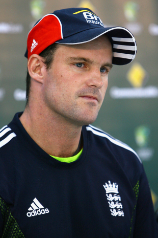 England captain Andrew Strauss addresses a press conference in Melbourne, January 15, 2011