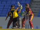 Johann Myburgh hits one of three consecutive sixes, Hampshire v Leeward Islands, Antigua, Caribbean T20, January 15, 2011