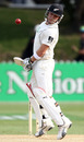 Brendon McCullum sways out of the way of a short ball