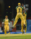 Jamaica's romped to victory in a rain-reduced match with Somerset finishing 24 for 6, Jamaica v Somerset, Antigua, Caribbean T20, January 18, 2011