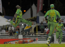Nelon Pascal had plenty to celebrate as his three wickets secured a tense win
