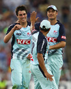 Patrick Cummins is congratulated on getting the wicket of Travis Birt, New South Wales v Tasmania, Twenty20 Big Bash 2010-11, Sydney, January 19, 2011