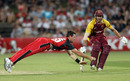 Daniel Christian dives to field one off his own bowling, South Australia v Queensland, Twenty20 Big Bash 2010-11, Adelaide, January 20, 2011