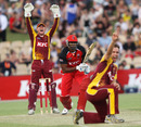 Chris Simpson traps Kieron Pollard lbw, South Australia v Queensland, Twenty20 Big Bash 2010-11, Adelaide, January 20, 2011
